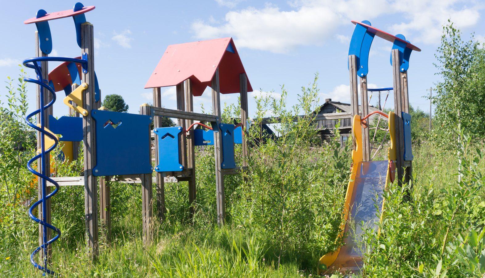 Old, abandoned playground