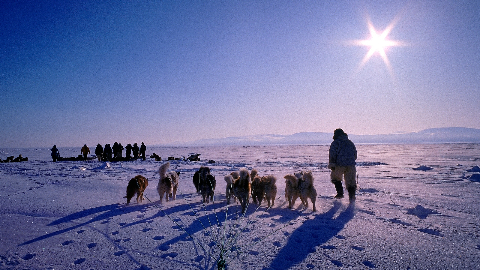 Indigenous person in the Arctic