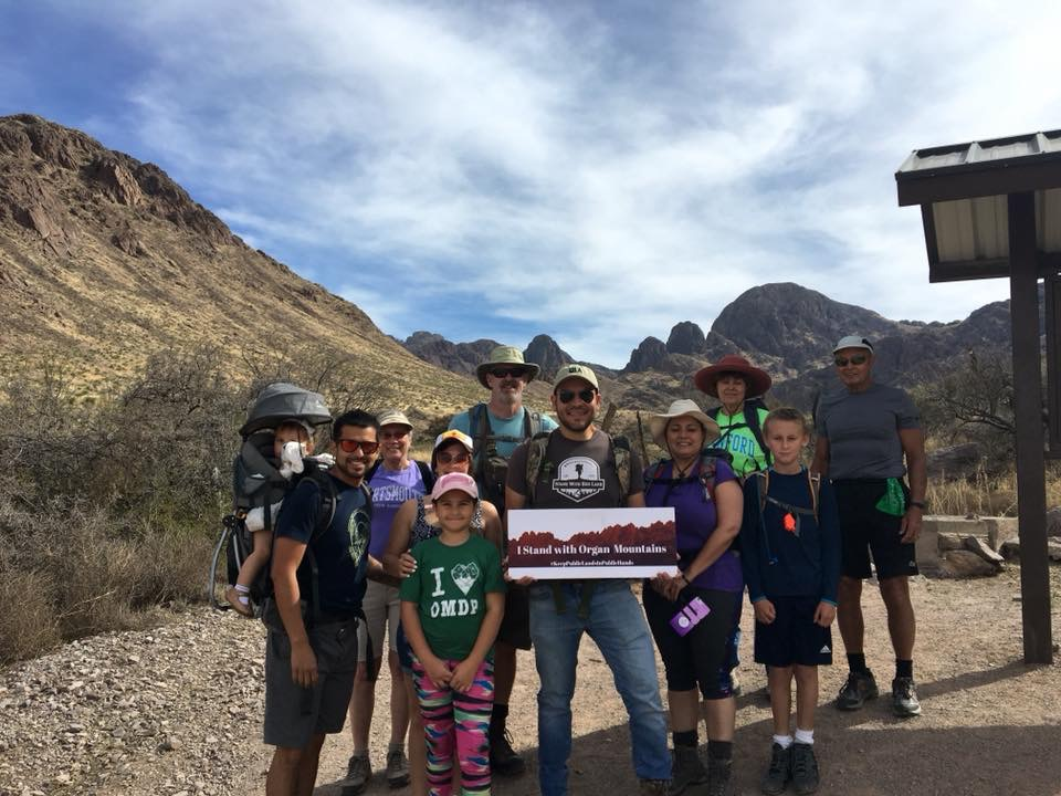 Gabe Vasquez leads a group hike in the Organ Mountains Desert Peaks National Monument.