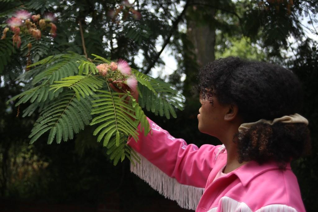Alexis Nikole Nelson foraging for plants