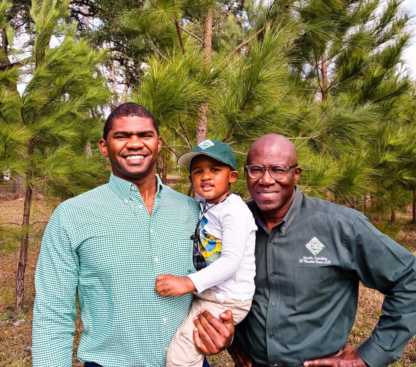 Joe Hamilton, his son and his grandson