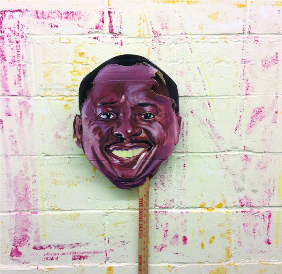 Cardboard rendering of Ken Saro-Wiwa