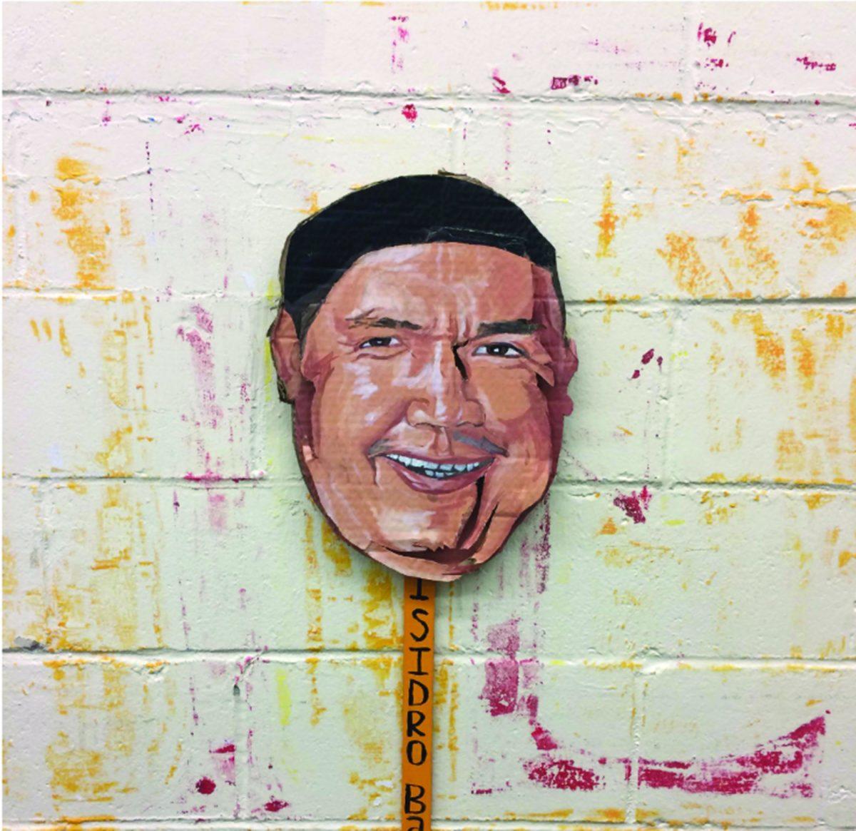 Cardboard rendering of Isidro Baldenegro López