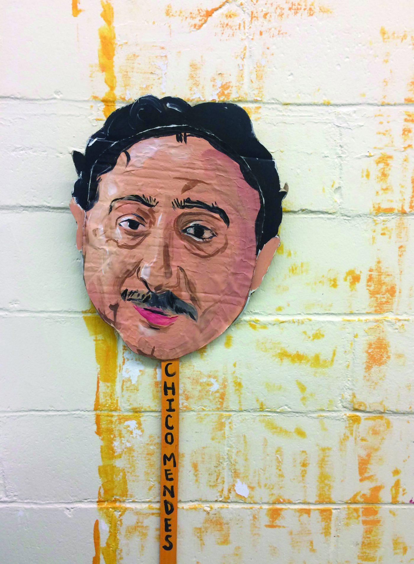 Cardboard rendering of Chico Mendes