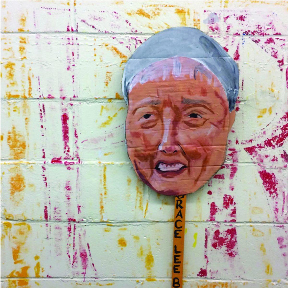 Cardboard rendering of Grace Lee Boggs