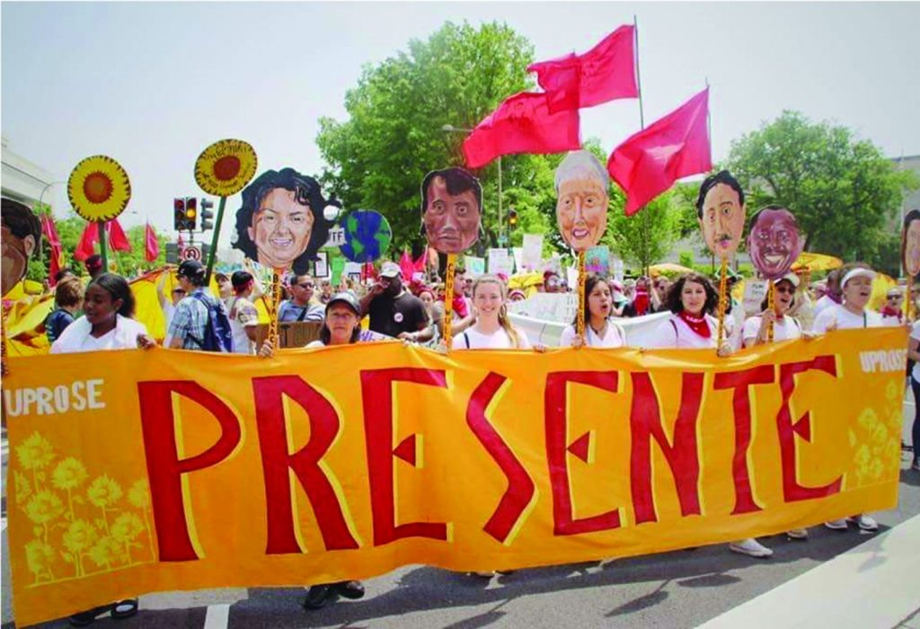 UPROSE members participating in the People's Climate March