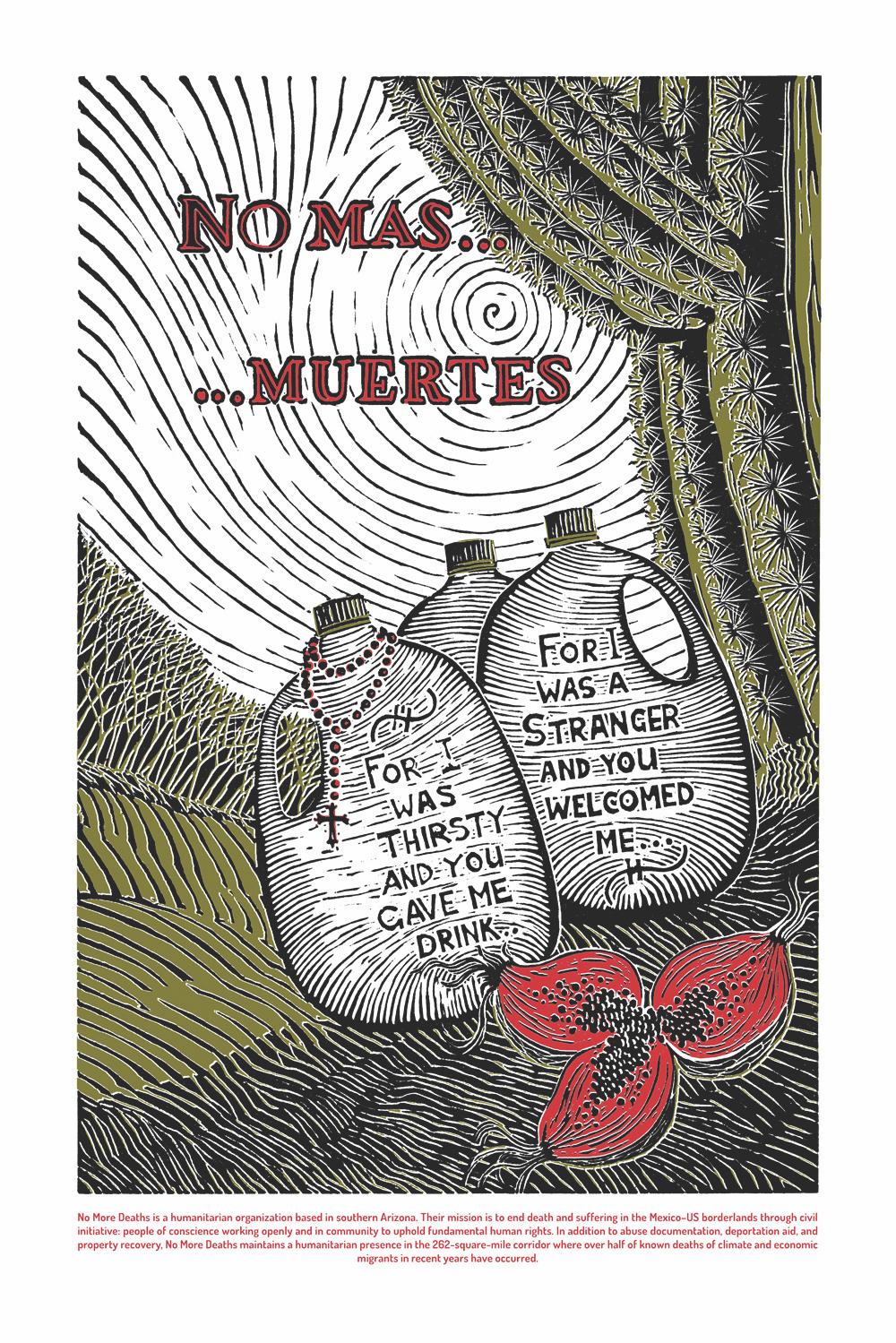 """No More Deaths"" artwork by Fernando Martí"