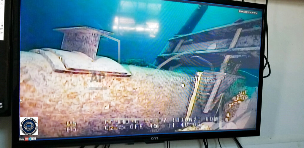 Video feed of Line 5 damage