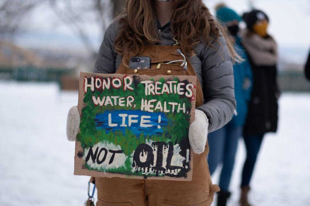 Climate Activists Protest An Enbridge Pipeline