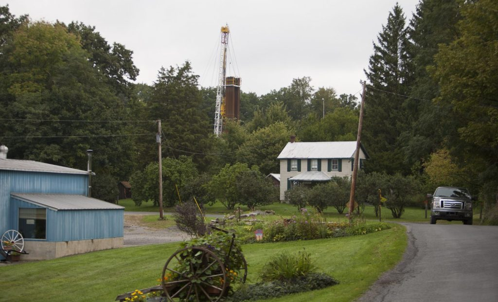 Drilling Rig On Private Property in Rural Calvert, Pennsylvania