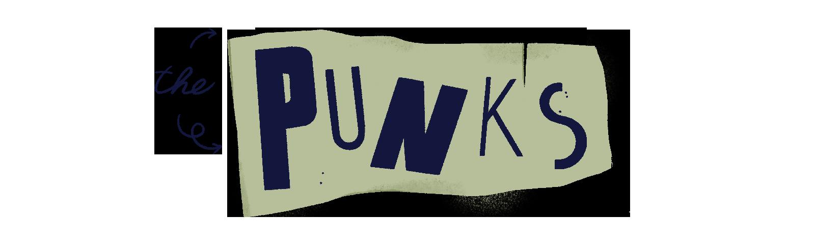 Illustration of the word 'punks
