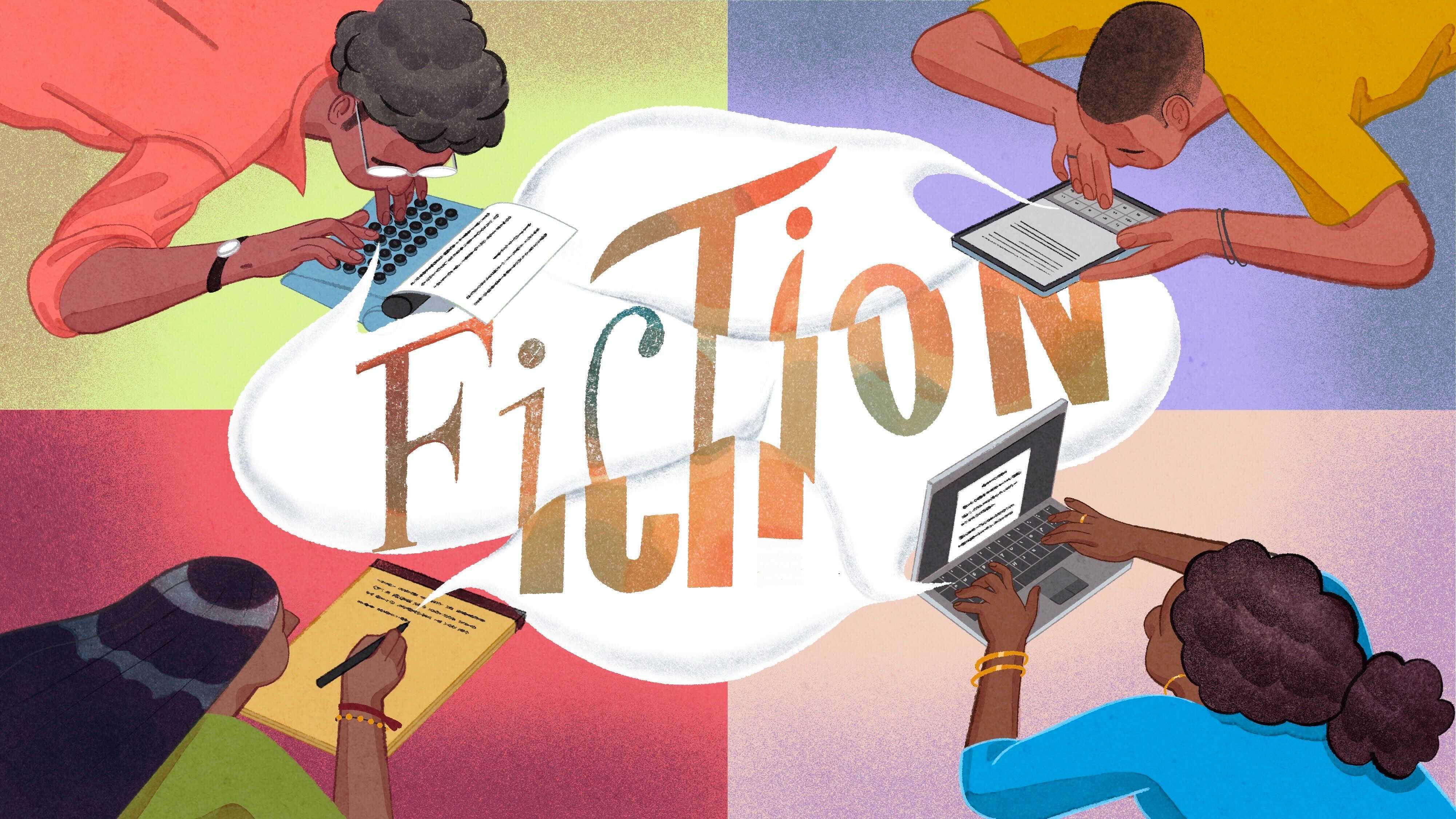 Illustration of fiction writers