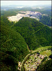 Seven floods have inundated the town of Bob White, W.Va., since mountaintop-removal mining started in 2000.