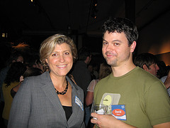 Grist Reader Party - Aimee Christensen and me