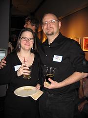 Grist Reader Party - Jamais Cascio and wife Janice