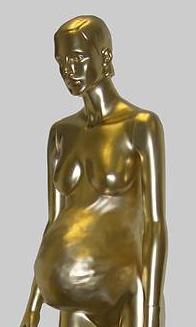 pregnant lady statue