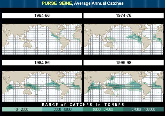 chart of purse seine catches