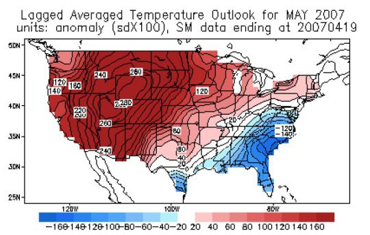 CAS temperature outlook