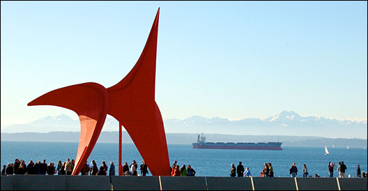 Olympic Sculpture Park, with Olympics in background