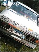 A biodiesel car