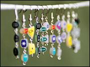 Keypad earrings