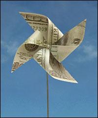 100 dollar pinwheel