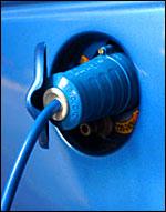 plugged in car