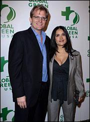 Matt Petersen with Salma Hayek