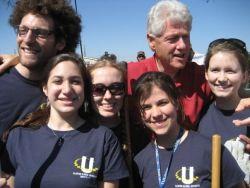 Bill Clinton with students at CGIU