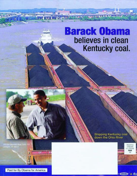 Barack Obama for clean Kentucky coal
