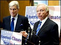 John Warner and Joe Lieberman