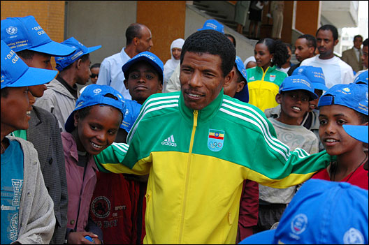 Haile Gebrselassie. Photo: Andrew Heavens via Flickr
