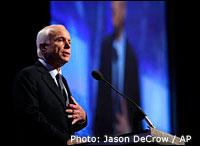 John McCain. Photo: Jason DeCrow / AP