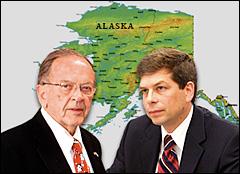 Ted Stevens and Mark Begich battle for Alaska