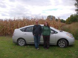 Prius in corn field