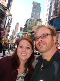 Sarah and Todd in Times Square
