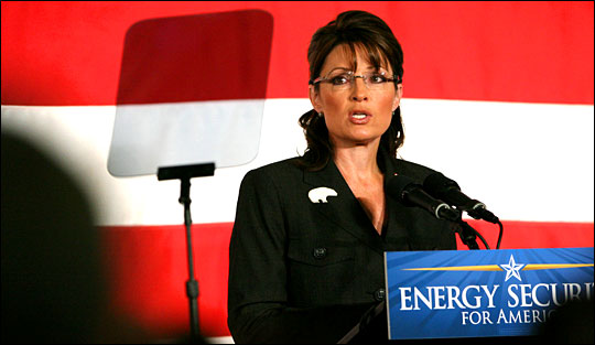 Sarah Palin. Photo: Madalyn Ruggiero / AP