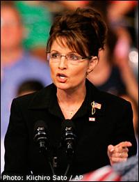 Sarah Palin. Photo: Kiichiro Sato / AP