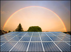 Solar gold under the rainbow