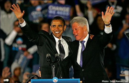 Obama and Clinton. Photo: John Raoux / AP
