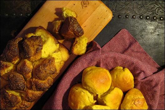 Sweet potato rolls.