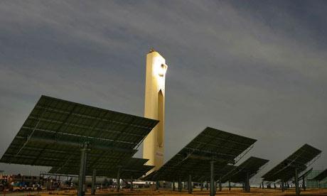 Solar tower plant near Seville