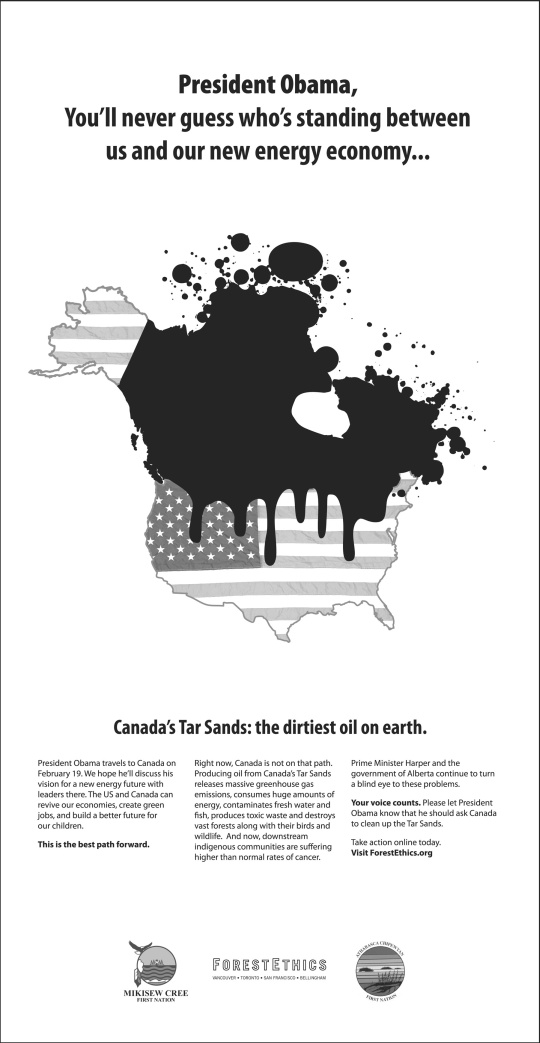 Forest Ethics tar sands ad