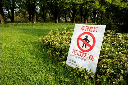 Pesticide warning
