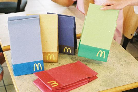 Biodegradable McDonald's packaging