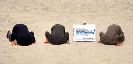 Denialists have their heads in the sand