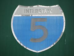 I-5 highway sign