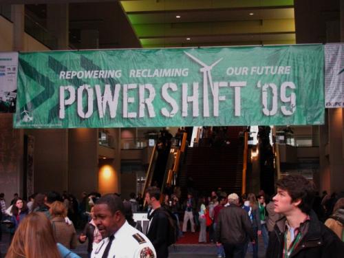 Students at a Powershift 2009 rally.