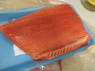packaged salmon.