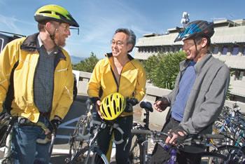 Chu and biking colleagues.
